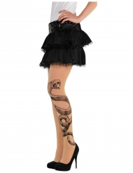 Collant tattoo vipère femme