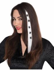 Extension de cheveux mèche avec arraignées Halloween