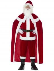 Déguisement Père Noël luxe avec cape adulte