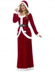 Déguisement robe longue à capuche  luxe femme Noël