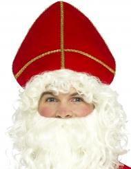 Coiffe rouge Saint Nicolas adulte Noël