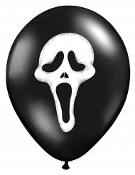 6 Ballons en latex Scream Halloween 30 cm