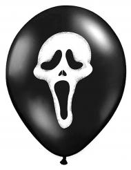 6 Ballons latex Scream Halloween