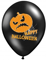 6 Ballons latex Citrouille Happy Halloween