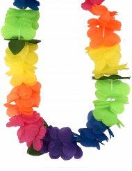 Collier Hawaï grosses fleurs multicolores