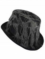 Chapeau haut de forme noir toile d