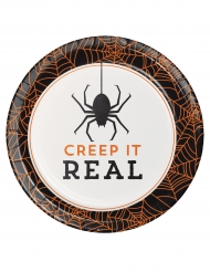 8 Assiettes en carton Halloween Creep it real 18 cm