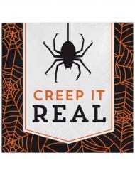 16 Petites serviettes en papier Halloween Creep it real 16.5 x 16.5 cm