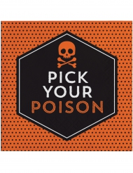 16 Serviettes en papier Halloween Pick your poison 33 x 33 cm