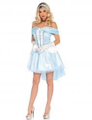 Déguisement princesse de verre bleue femme