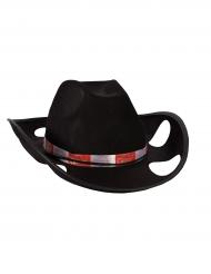 Chapeau de cowboy porte-gobelets noir