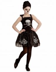 Déguisement danseuse ballerine squelette noire fille Halloween