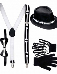 Kit gentleman squelette adulte Halloween