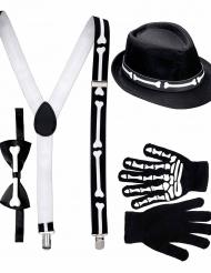 Kit gentleman squelette adulte Halloween
