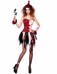 Déguisement arlequin maléfique femme Halloween