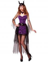 Déguisement princesse maléfique violette femme Halloween