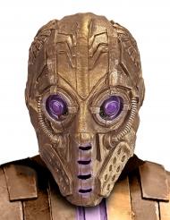 Masque robot doré adulte