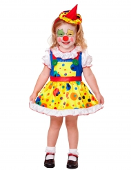 Déguisement mini clown jaune fille