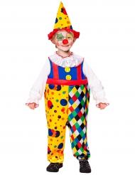Déguisement mini clown jaune garçon