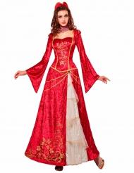 Déguisement princesse renaissance rouge femme