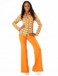 Chemise groovy disco années 70 femme