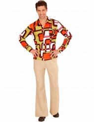 Chemise groovy géométrique années 70 homme