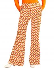 Pantalon groovy rétro années 70 femme