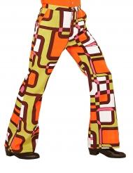 Pantalon groovy géométrique années 70 homme