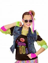 Kit accessoires fluo années 80 fille