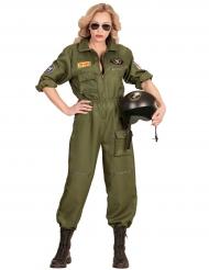 Déguisement pilote de combat femme