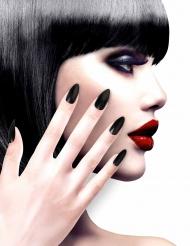 Faux ongles noirs adhésifs adulte