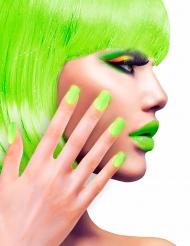 Faux ongles adhésifs verts adulte