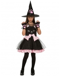Déguisement sorcière chaton fille Halloween