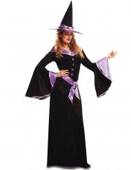 Déguisement sorcière mauve femme Halloween