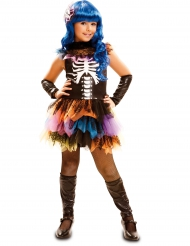 Déguisement squelette arc-en-ciel fille Halloween
