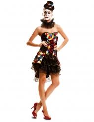 Déguisement clownette multicolore femme
