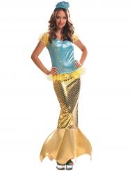 Déguisement sirène dorée femme