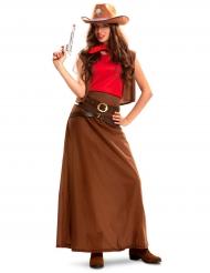 Déguisement cowgirl robe longue femme