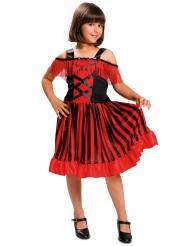 Déguisement danseuse andalouse noire et rouge fille