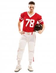 Déguisement joueur de football américain rouge homme