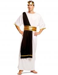 Déguisement maitre romain noir et blanc homme