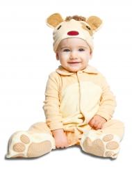 Déguisement petit ourson avec sucette luxe bébé