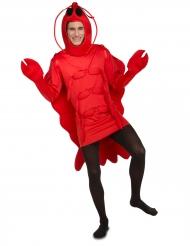 Déguisement homard rouge adulte