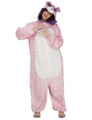 Combinaison ourson rose femme