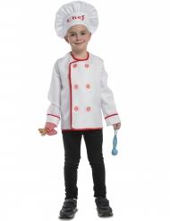 Déguisement chef cuisinier avec accessoires enfant