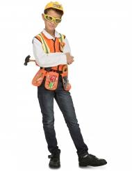 Déguisement chef de chantier avec accessoires enfant