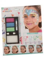 Maquillage princesse arc-en-ciel fille