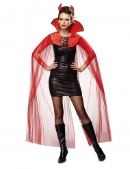 Cape voilage diablesse femme Halloween