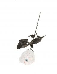 Rose blanche avec oeil 40 cm Halloween