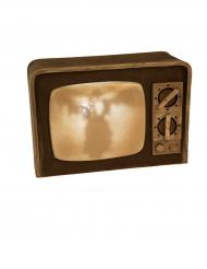 Décoration lumineuse et sonore poste télé 21 X 31 cm Halloween
